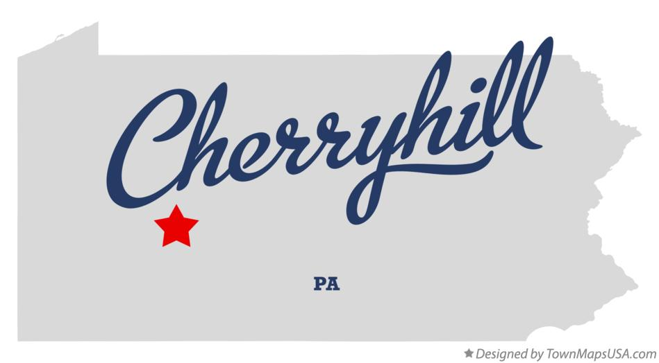 Map of Cherryhill Pennsylvania PA