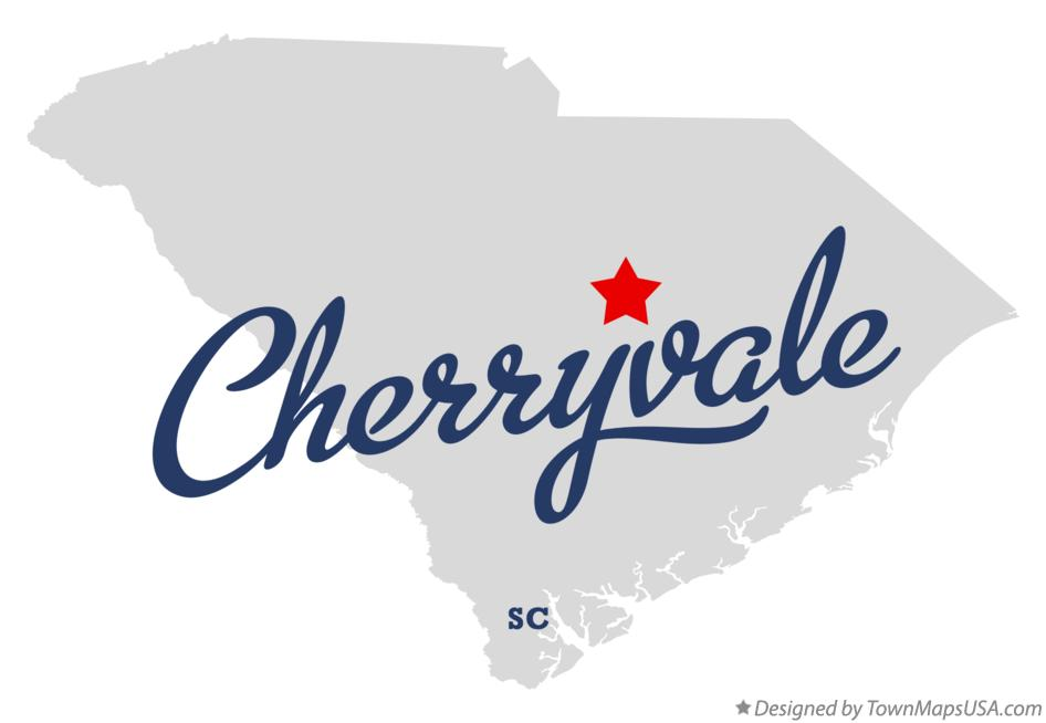 Map of Cherryvale South Carolina SC
