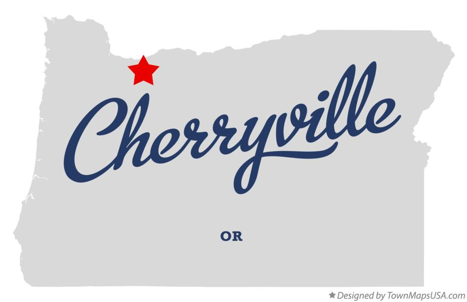 Map of Cherryville Oregon OR
