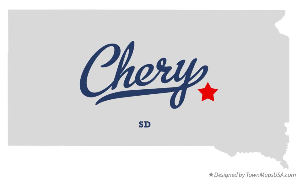 Map of Chery South Dakota SD