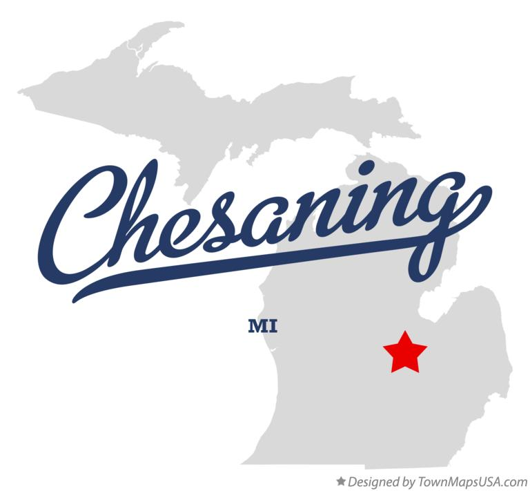Map of Chesaning Michigan MI