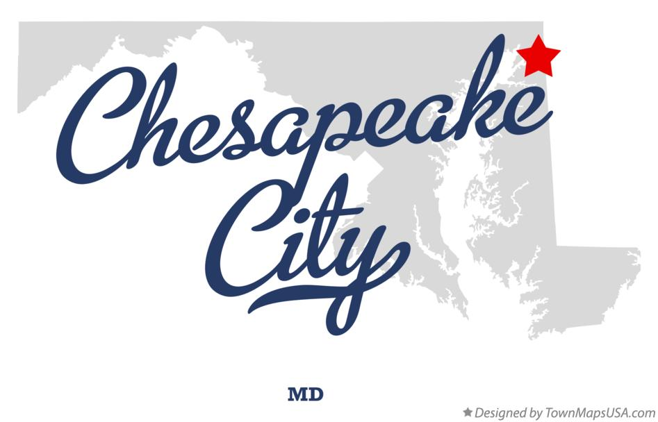 Map of Chesapeake City Maryland MD