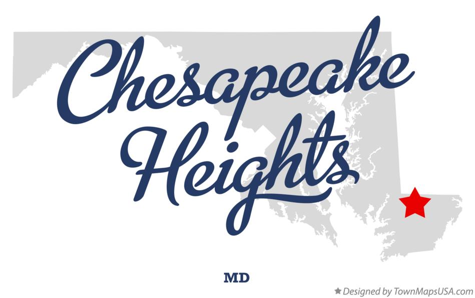 Map of Chesapeake Heights Maryland MD