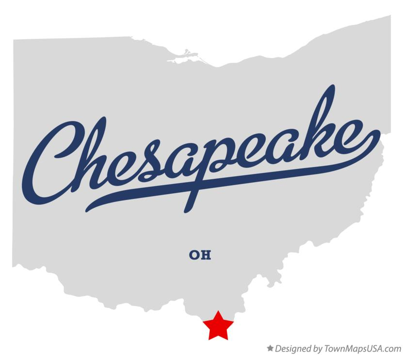 Map of Chesapeake Ohio OH