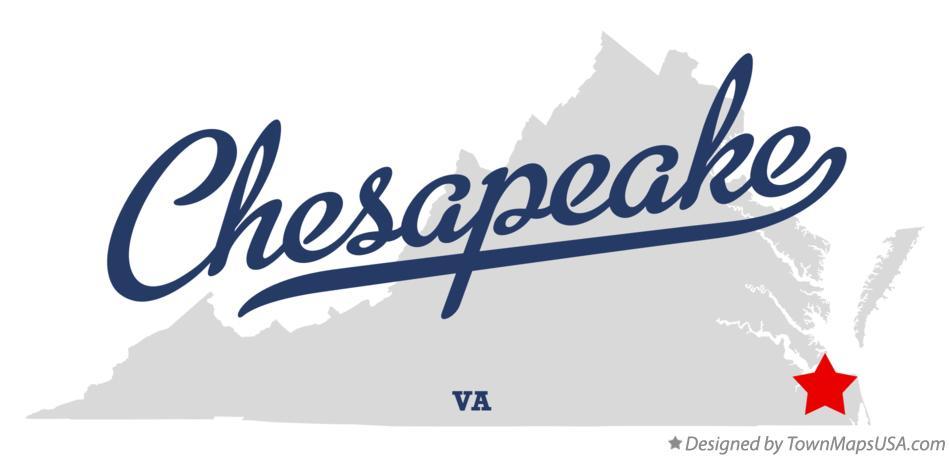 Map of Chesapeake, VA, Virginia Chesapeake Va Map on