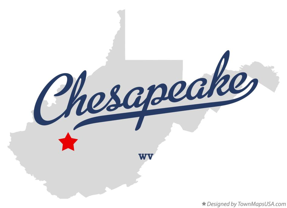 Map of Chesapeake West Virginia WV