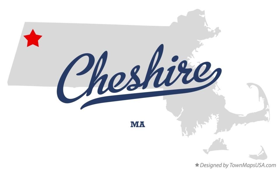 Map of Cheshire Massachusetts MA