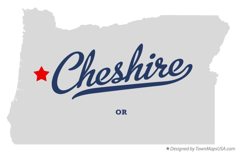 Map of Cheshire Oregon OR