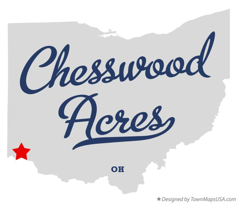 Map of Chesswood Acres Ohio OH
