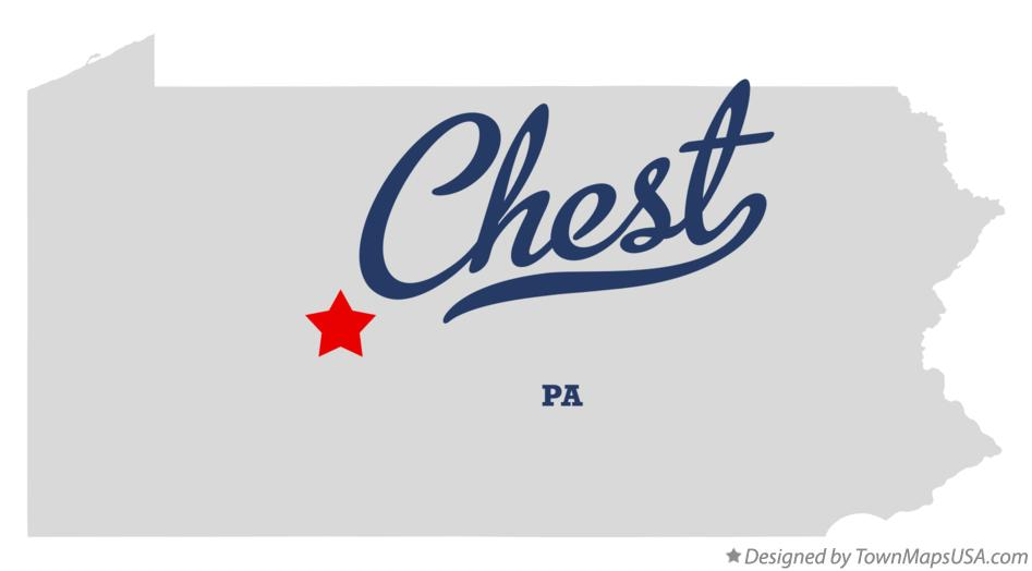 Map of Chest Pennsylvania PA