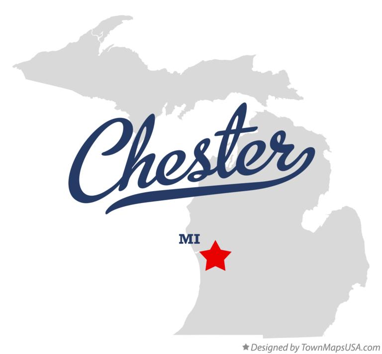 Map of Chester Michigan MI