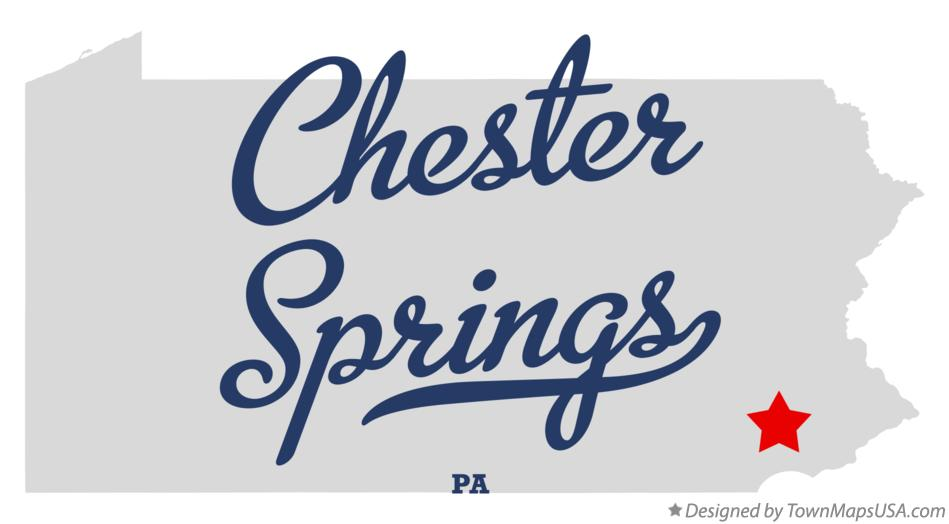 Map of Chester Springs Pennsylvania PA