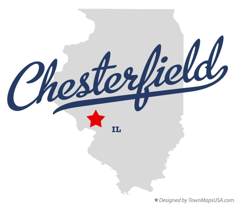 Map of Chesterfield Illinois IL