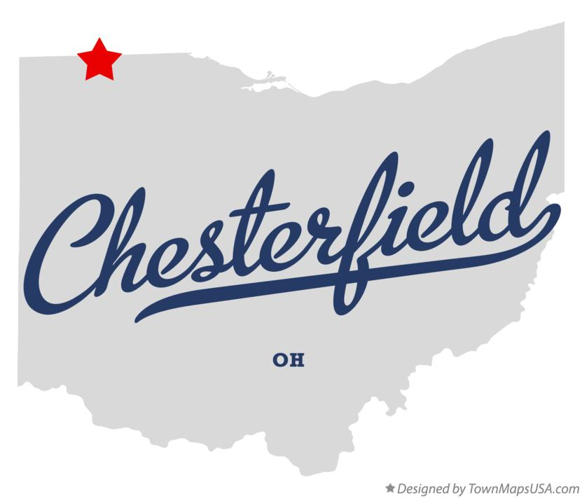 Map of Chesterfield Ohio OH
