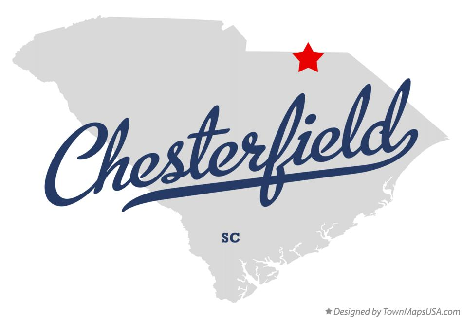 Map of Chesterfield South Carolina SC