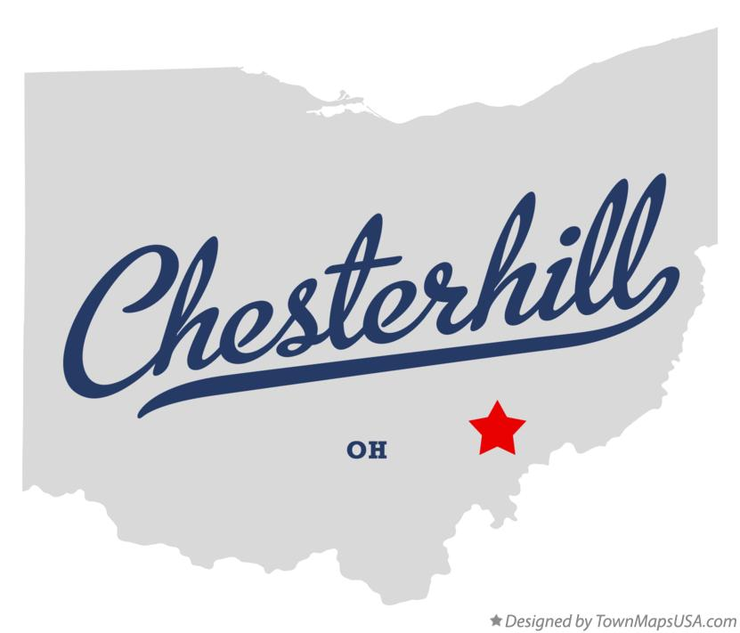 Map of Chesterhill Ohio OH