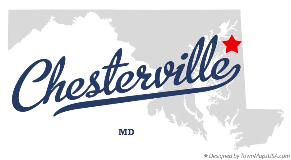 Map of Chesterville Maryland MD