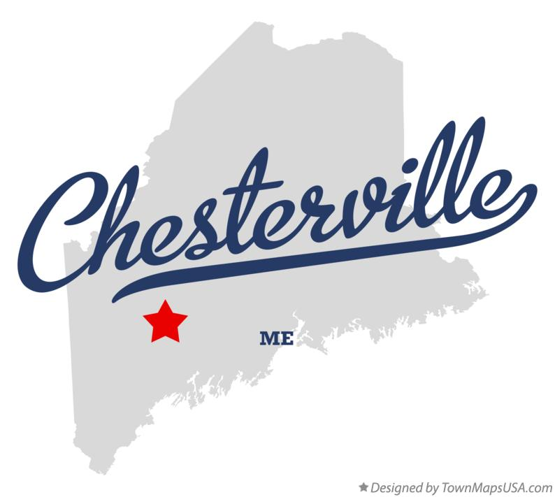 Map of Chesterville Maine ME