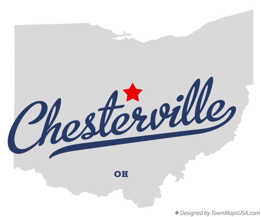 Map of Chesterville Ohio OH