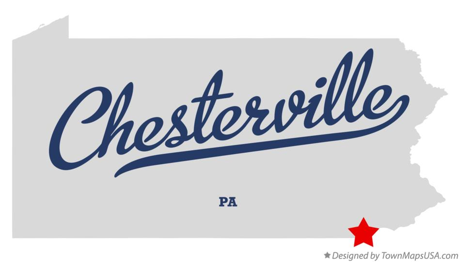 Map of Chesterville Pennsylvania PA