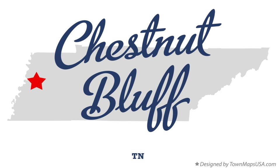 Map of Chestnut Bluff Tennessee TN