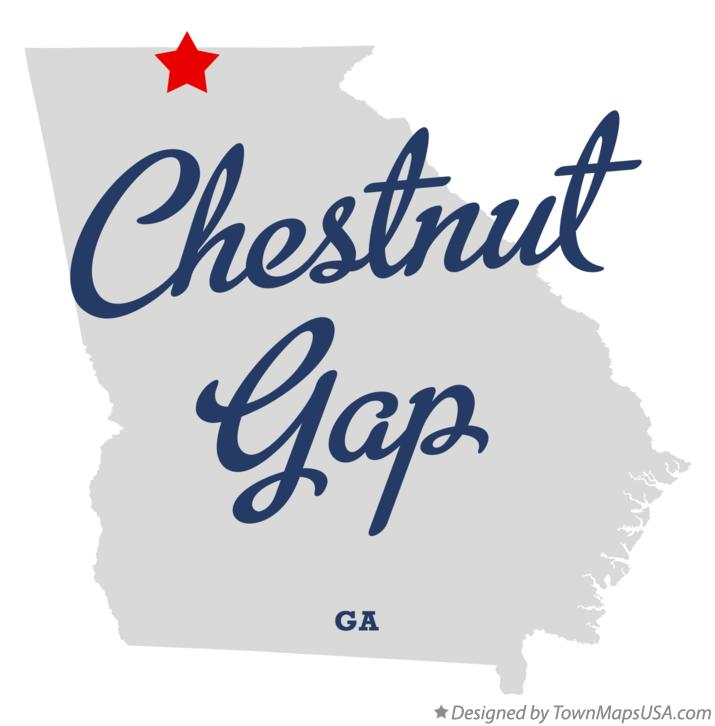 Map of Chestnut Gap Georgia GA