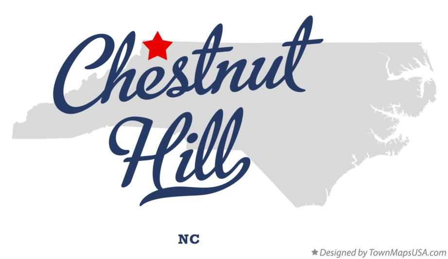 Map of Chestnut Hill North Carolina NC