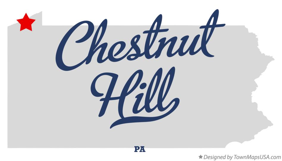 Map of Chestnut Hill Pennsylvania PA