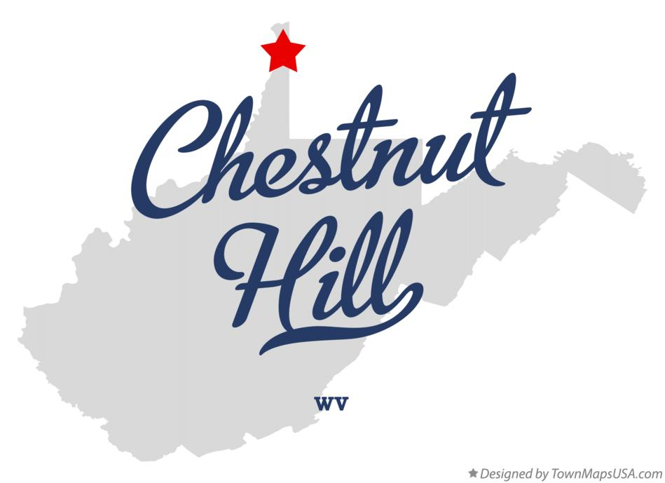 Map of Chestnut Hill West Virginia WV
