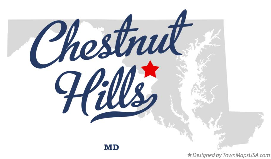 Map of Chestnut Hills Maryland MD