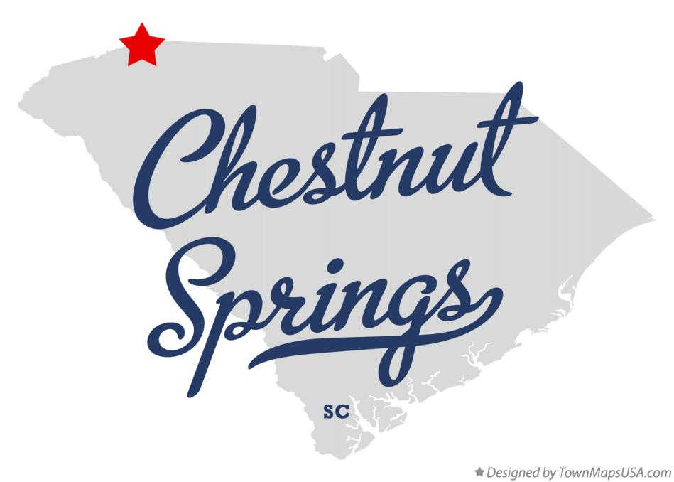 Map of Chestnut Springs South Carolina SC