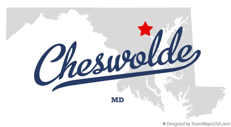 Map of Cheswolde Maryland MD