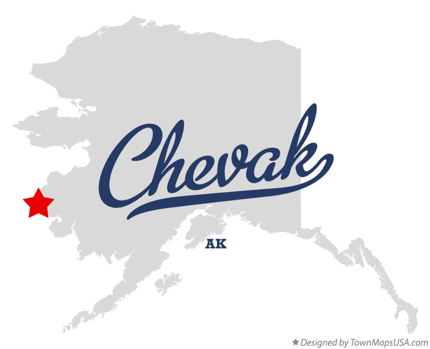 Map of Chevak Alaska AK