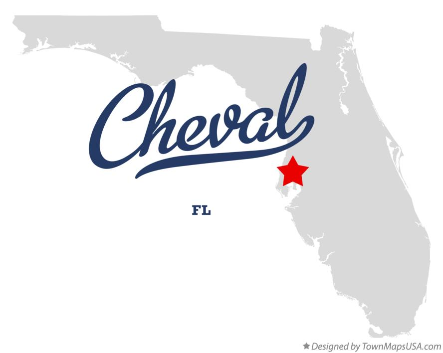 Map of Cheval Florida FL