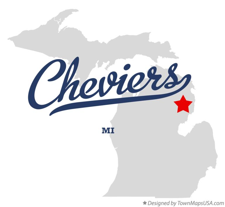 Map of Cheviers Michigan MI