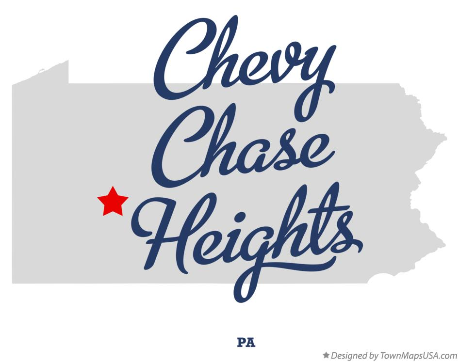 Map of Chevy Chase Heights Pennsylvania PA