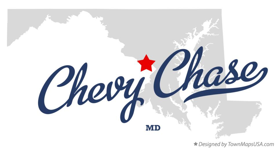 Map of Chevy Chase Maryland MD