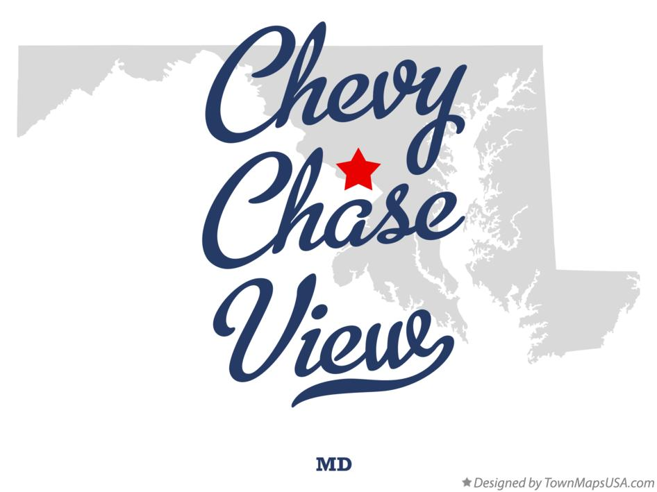 Map of Chevy Chase View Maryland MD