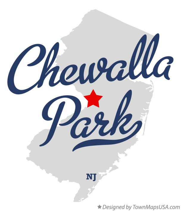 Map of Chewalla Park New Jersey NJ