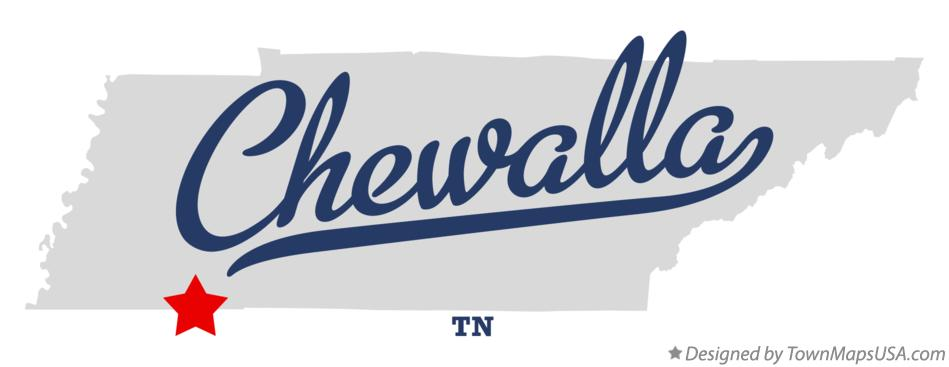 Map of Chewalla Tennessee TN