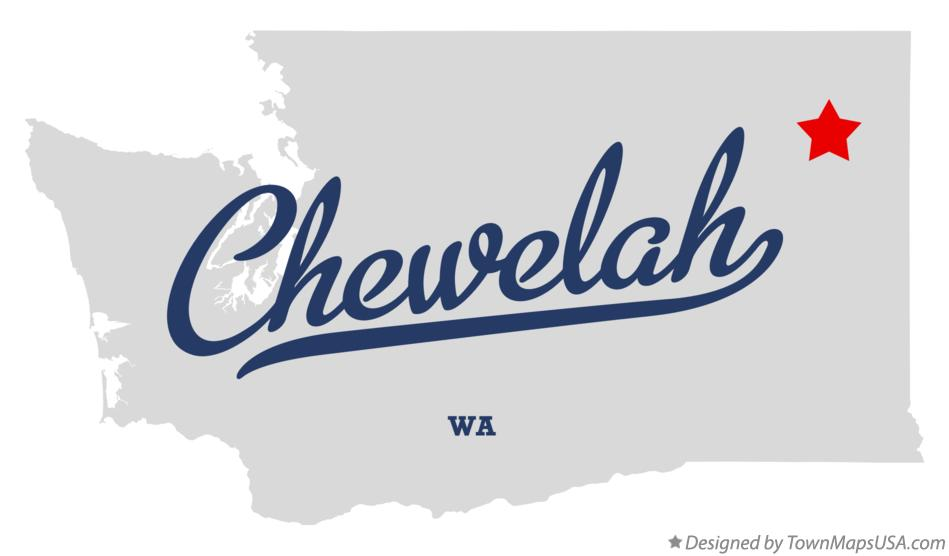 Map of Chewelah Washington WA