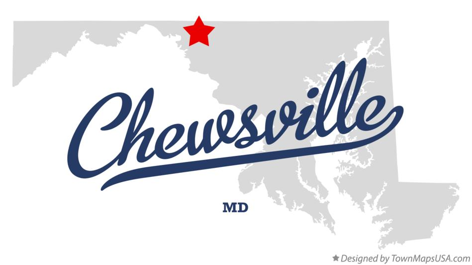 Map of Chewsville Maryland MD
