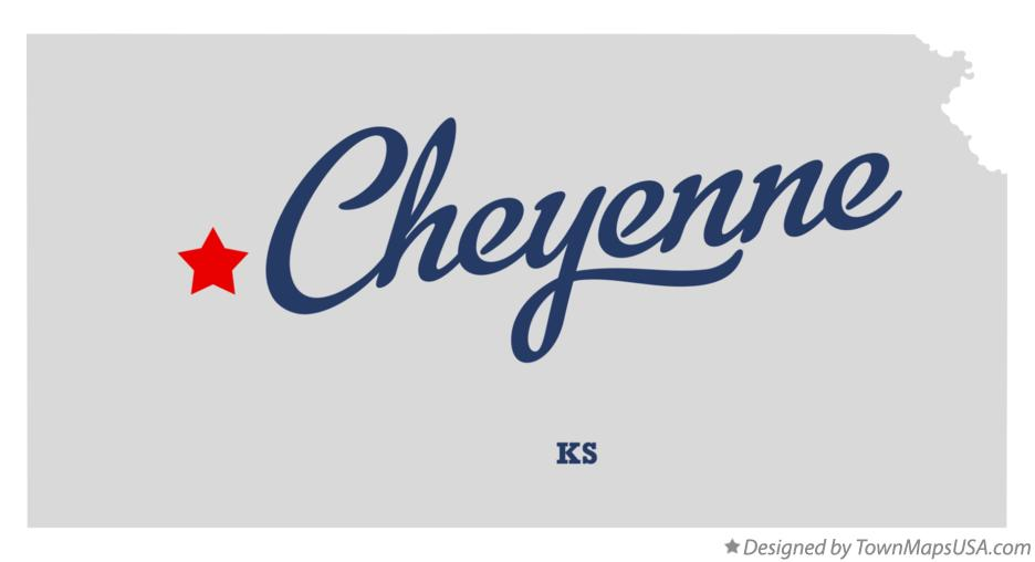 Map of Cheyenne Kansas KS