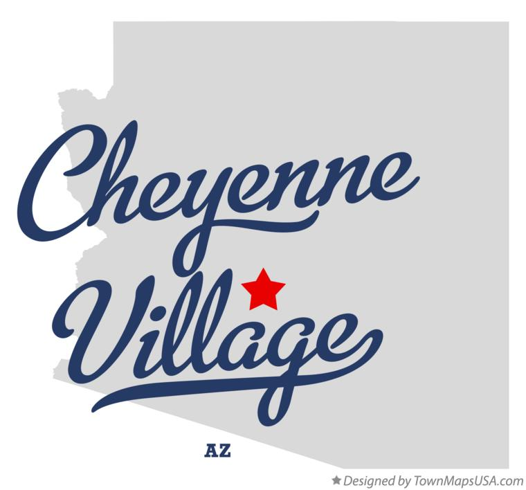 Map of Cheyenne Village Arizona AZ