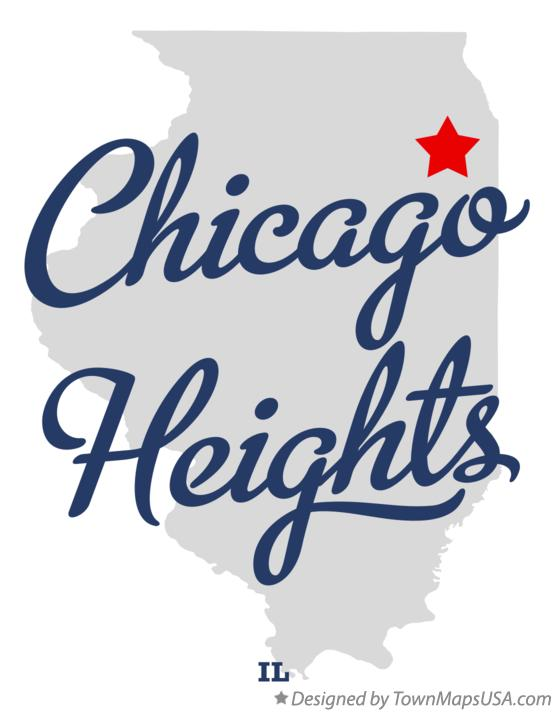 Map of Chicago Heights Illinois IL