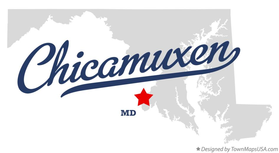 Map of Chicamuxen Maryland MD