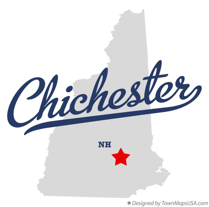Map of Chichester New Hampshire NH