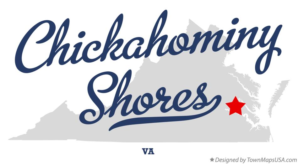 Map of Chickahominy Shores Virginia VA