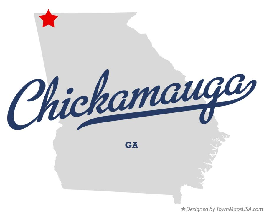 Map of Chickamauga Georgia GA
