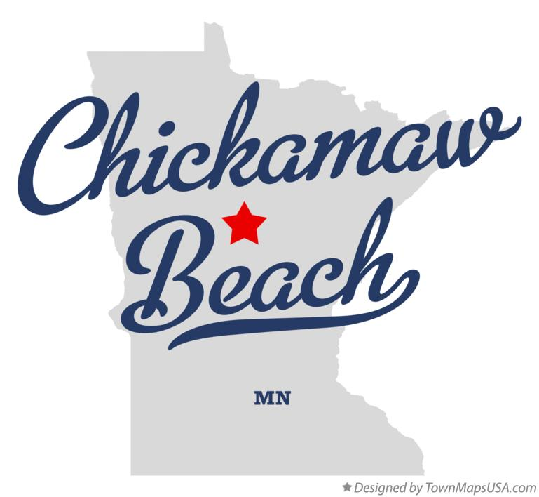 Map of Chickamaw Beach Minnesota MN